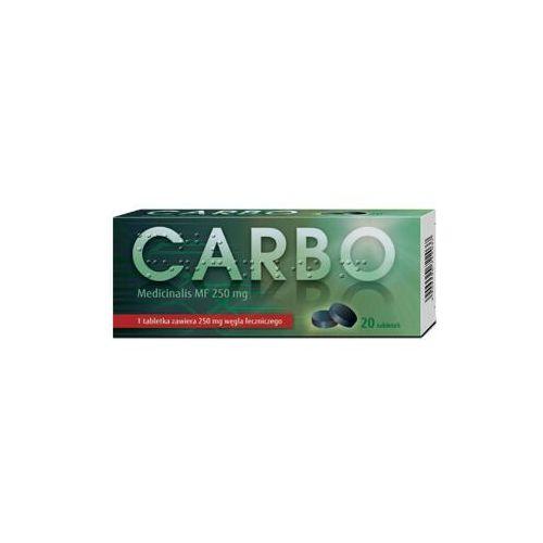 Carbo medicinalis MF tabl. 0,25 g 20 tabl