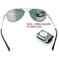 Przeciwsłoneczne Szpiegowskie Okulary Detektywa/Agenta FBI z Widokiem do Tyłu!!