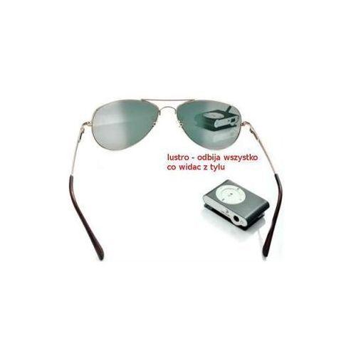 Przeciwsłoneczne Szpiegowskie Okulary Detektywa/Agenta FBI z Widokiem do Tyłu!!, kolor żółty