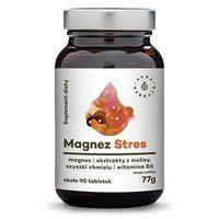AURA HERBALS Magnez Stres + ekstrakt z melisy i szyszek chmielu + witamina B6 - tabletki 77g (ok. 90 tabletek) (5902479611167)