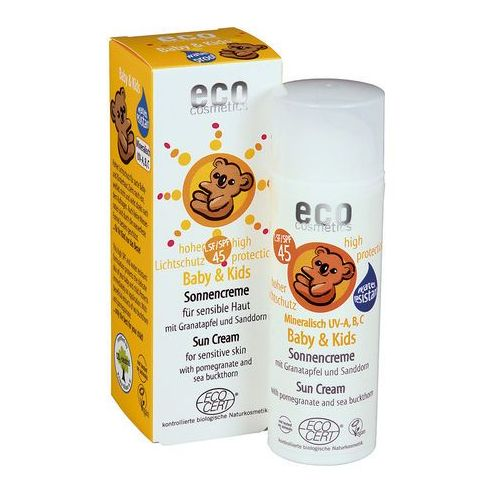 Eco cosmetics Baby & kids krem na słońce lsf/spf 45 z owocem granatu i rokitnikiem