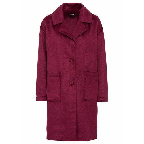 Płaszcz oversized czerwony rododendron marki Bonprix