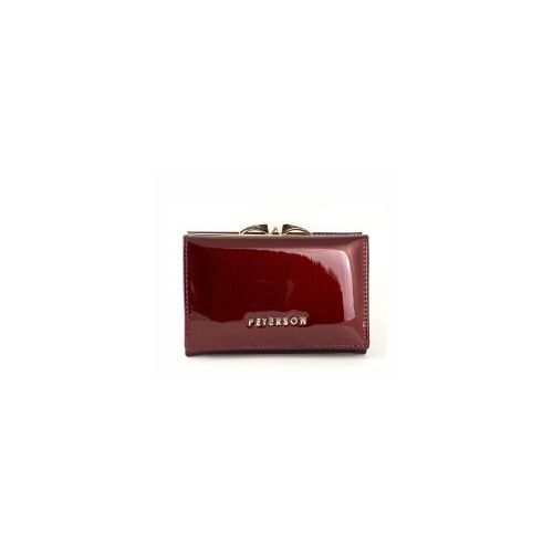 42a6c9766ac12 Mały czerwony damski portfel skórzany Peterson BC 412 R