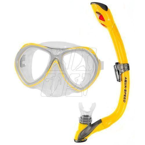 Zestaw do nurkowania aura +evo junior żółty Aqua-speed