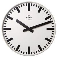 Zegar ścienny, Ø 500 mm, kwarcowy mechanizm zegarowy, z paskami. idealny do hal marki Unbekannt