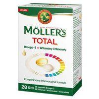"Kapsułki Moller""s Mama Omega-3 x 28 kapsułek + Witaminy i Minerały x 28 tabletek"