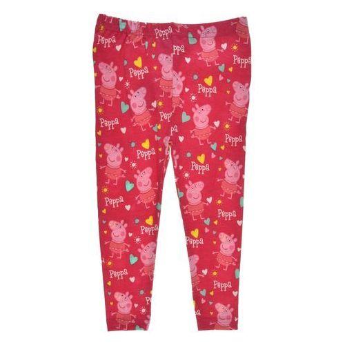 Legginsy dziecięce Świnka Peppa różowe, kolor różowy