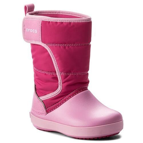 Śniegowce - lodgepoint snow boot k 204660 candy pink/patry pink marki Crocs
