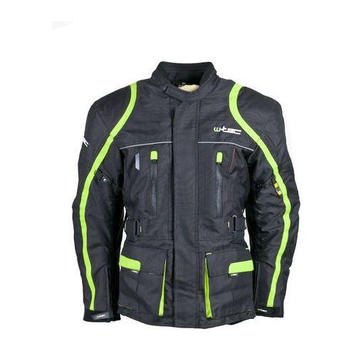 Męska długa kurtka motocyklowa W-TEC Glomnitz NF-2205, Czarno-zielony, XXL