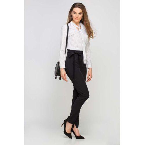 67eda46c Klasyczne czarne spodnie w kant z wysokim stanem, Lanti, 36-42 ...
