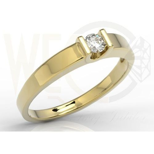 Węc Twój Jubiler Pierścionek Zaręczynowy Z Białego Złota Z