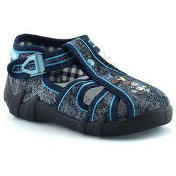 Kapcie dla dzieci RenBut 13-106_L-0687 - Jeans, kolor niebieski