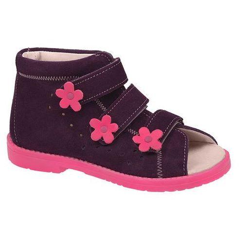 Sandały Profilaktyczne Ortopedyczne Buty DAWID 1043 Fiolet FC - Fioletowy   Różowy   Multikolor