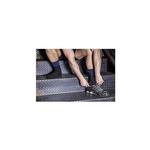BXR Tennis Socks Black with blue stripe, kolor niebieski