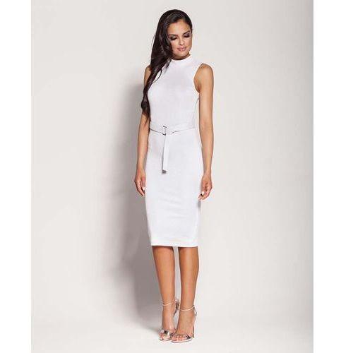 152a0833d7 Zobacz ofertę Biała Elegancka Ołówkowa Sukienka z Połyskiem
