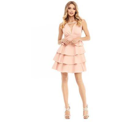 f793b86550 Sukienka Faith w kolorze brzoskwiniowym