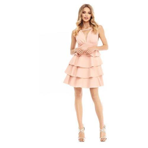 Sugarfree Sukienka faith w kolorze brzoskwiniowym