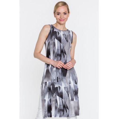 6e5cd61cc0 Sukienka w czarno-białe wzory - Ryba