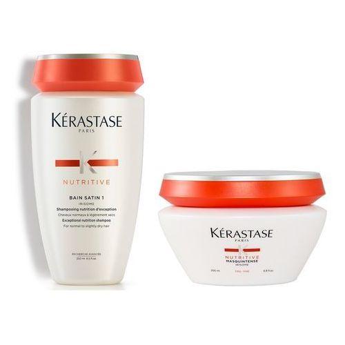 Kerastase zestaw odżywczy | satin 1 bain 250ml, masquintense maska fine 200ml