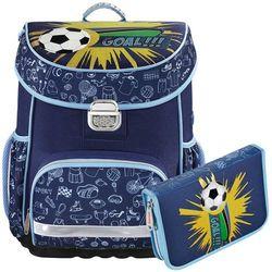 zestaw szkolny tornister + piórnik z wyposażeniem / soccer - soccer marki Hama