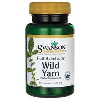 Swanson Wild Yam Root (Dziki Pochrzyn) 400 mg 60 kapsułek (0087614112589)
