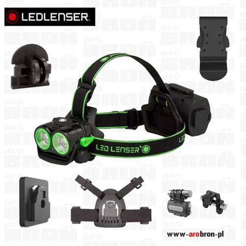 Zestaw LEDLENSER Latarka czołowa XEO19R Black & Green + uchwyt na kask, rower, statyw, GoPro, do paska - 2000lm, 300m, AFS