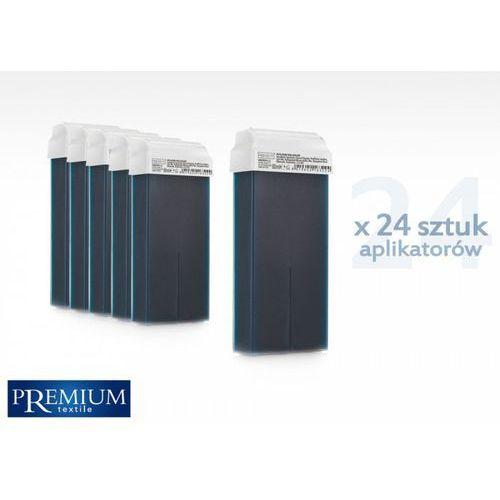 Zestaw gabinetowy wosk do depilacji azulene z szeroką rolką 80ml x 24 szt Premium textile