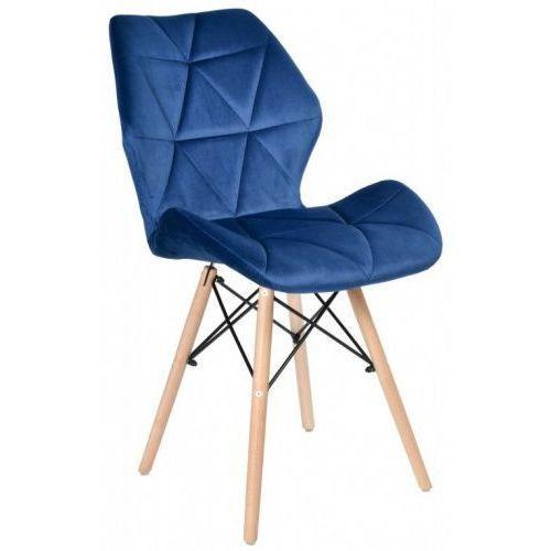 Krzesło Asker Velvet Aksamit Granatowe Kolor Niebieski Krzeslaihokery
