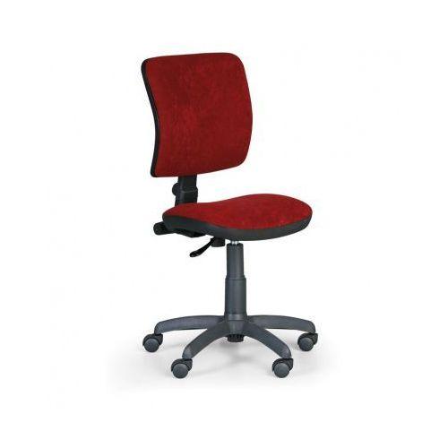 Biurowe krzesło MILANO II bez podłokietników - czerwony
