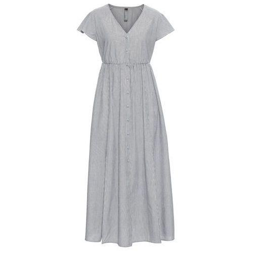 Długa sukienka boho bonprix czarny z nadrukiem