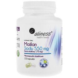 Maślan Sodu 550 mg (Kwas masłowy 170 mg), 100 kapsułek wegańskich