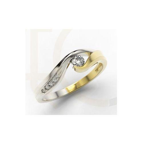 Pierścionek Zaręczynowy Z żółtego I Białego Złota Z Diamentami 018