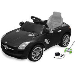 samochód elektryczny dla dzieci czarny mercedes benz sls 6 v z pilotem marki Vidaxl