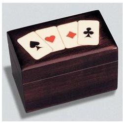 Karty lux w pudełku drewnianym Asy, 9