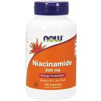 Now Foods Niacinamide (Niacyna) 500mg 100 kaps.
