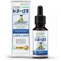 Płyn Naturalna Witamina K2 MK-7 + D3 Forte w Kroplach Dla Dzieci 30ml Produkt Vege