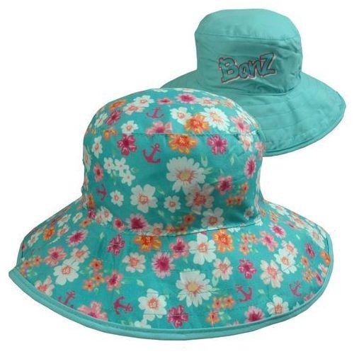 Kapelusz przeciwsłoneczny filtrem UV50 dzieci 0-2l - Flower Pink \ 45-50cm (9330696040921)