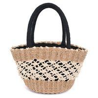 Torebka damska plażowa pleciona koszyk słomiany