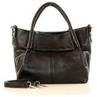Marco mazzini czarna torebka skórzana kuferek handbag