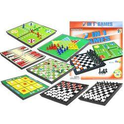 Gry 7w1 zestaw gier planszowych ludo warcaby marki Lean toys