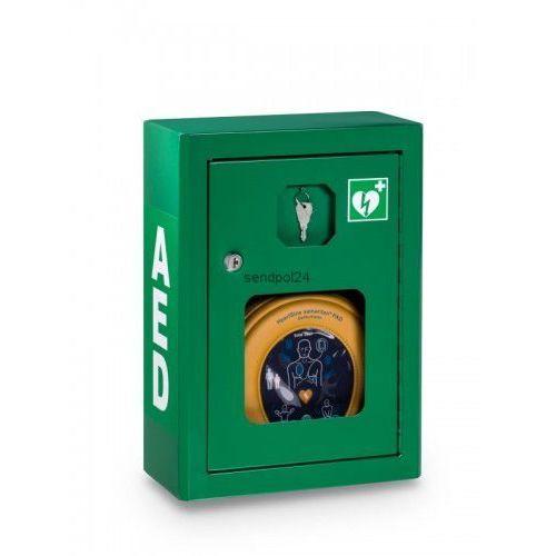 Heartsine Szafka metalowa zielona na defibrylator aed wersja z alarmem dźwiękowym