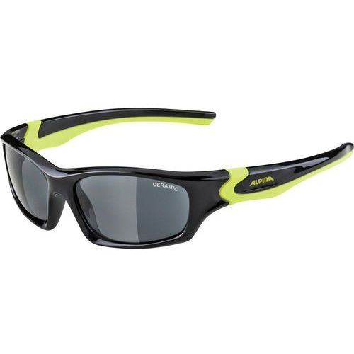 Alpina Flexxy Okulary rowerowe Dzieci, black-neon yellow 2019 Okulary przeciwsłoneczne dla dzieci (4003692286147)