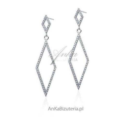 Anka biżuteria Biżuteria ślubna: kolczyki srebrne cyrkonie