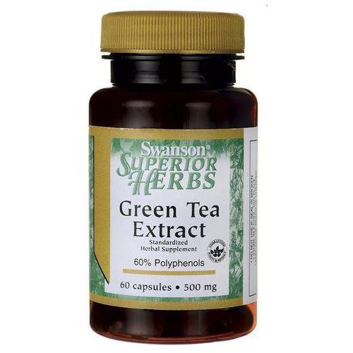 Kapsułki Swanson Green Tea extract (Zielona herbata) 500mg 60 kaps
