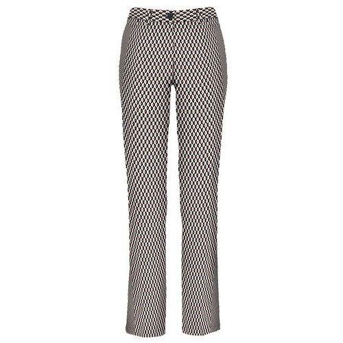 69b256650e4dcd Bonprix Spodnie ze stretchem bonprix czarno-brunatny z nadrukiem, bawełna