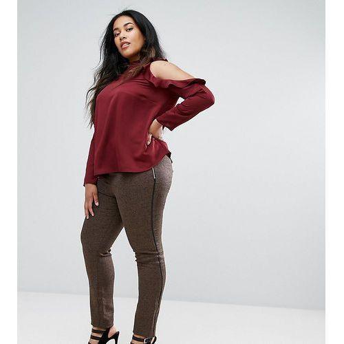 Elvi brown tweed trousers - brown