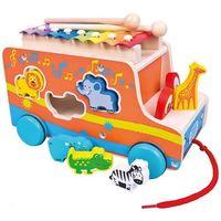 Drewniany samochód z ksylofonem zwierzęta, 1_698284