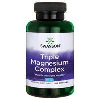 SWANSON Triple Magnesium Complex (Kompleks Magnezu), 400mg - 300 kapsułek