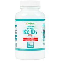 Tabletki Witamina K2 MK-7 MAX + D3 200mcg/2000IU (MyVita) 250 tabl.