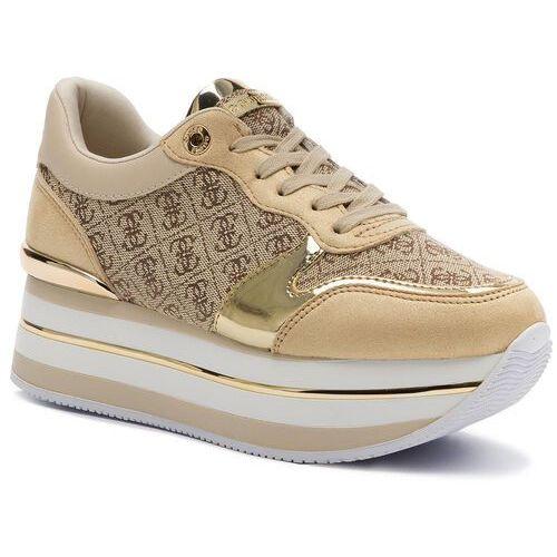 Sneakersy - hinders2 fl7hn2 fal12 beige/brown marki Guess